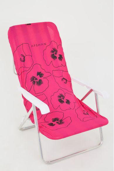 capa de cadeira frente estampa florida