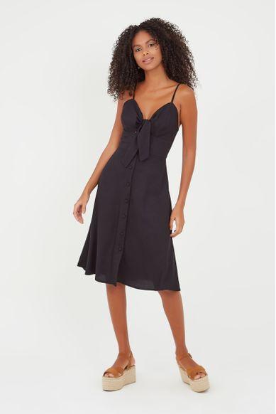 vestido nó frente preto