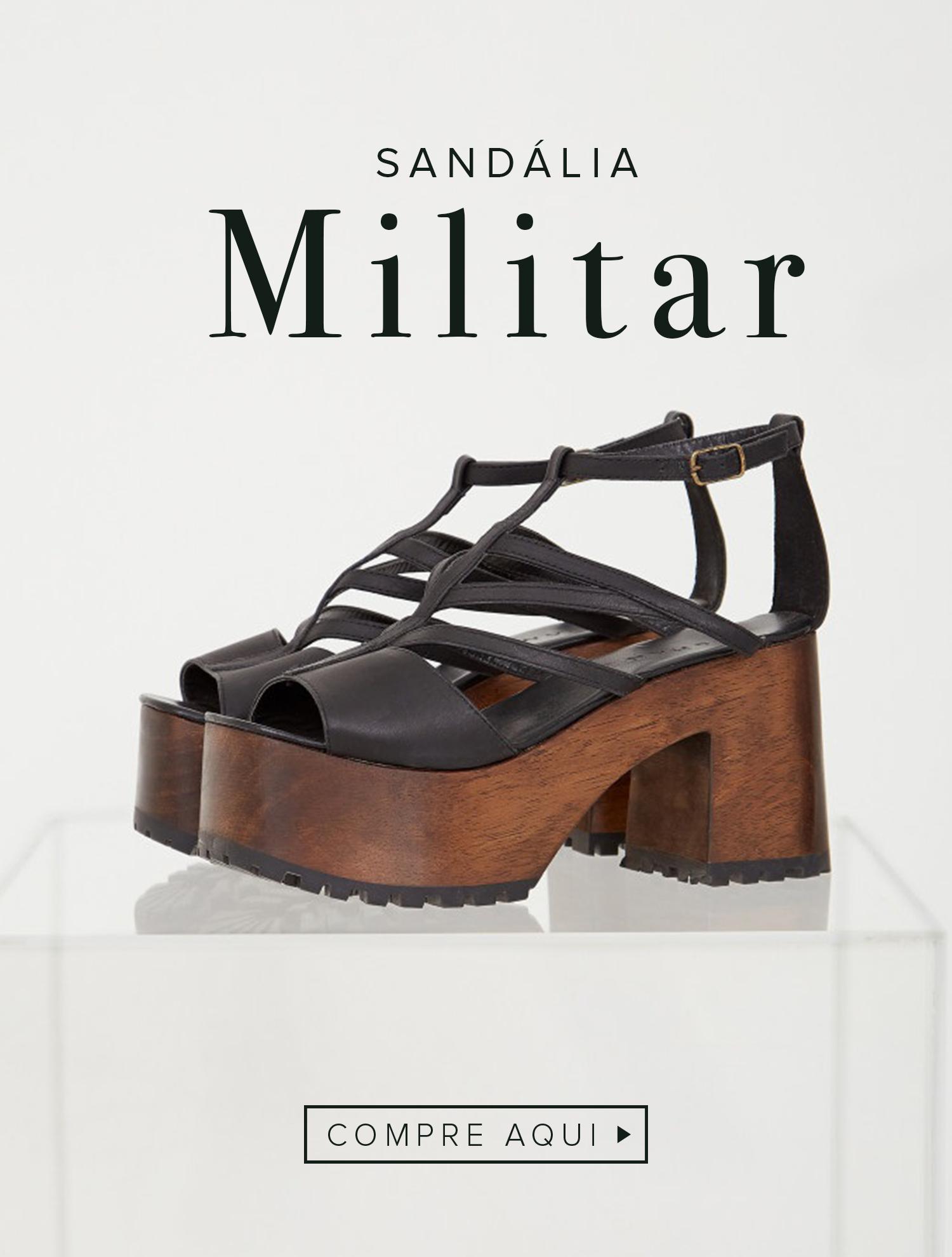 Vitrine 2 - Sandália Militar