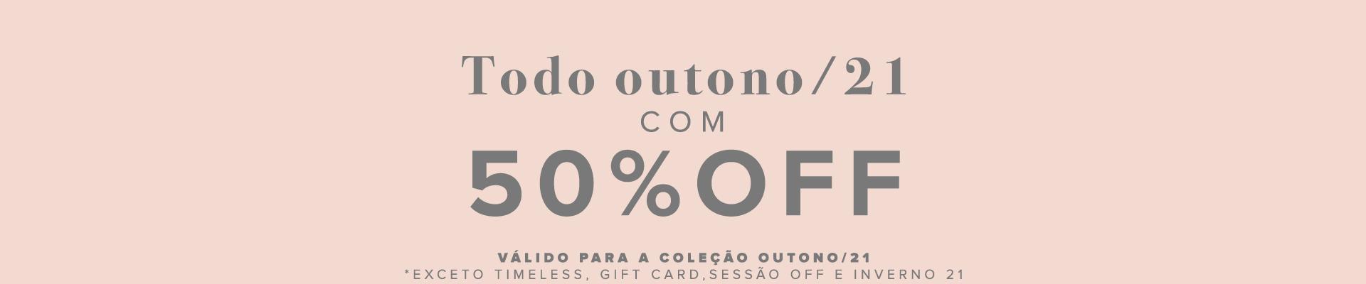 COLEÇÃO - outono 50%